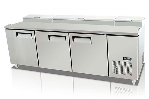 "Migali 93"" 2 Door Pizza Prep Refrigerator  C-PP93-HC"