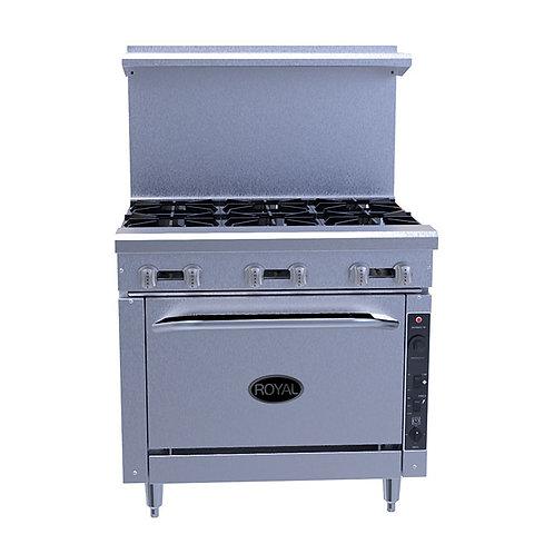 Royal 6 Burner Range w/convection oven RR6C