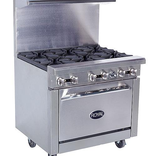 Royal 6 Burner Range w/oven RR6