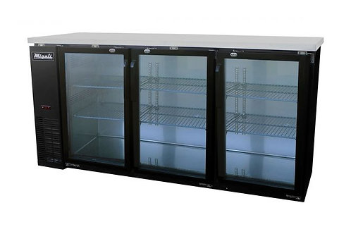 "Migali 72"" Wide Glass Door Refrigerator C-BB72G-HC"