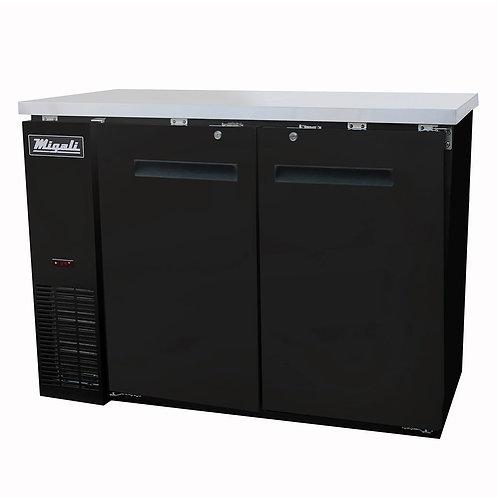 "Migali 48"" Wide Solid Door Refrigerator C-BB48-HC"
