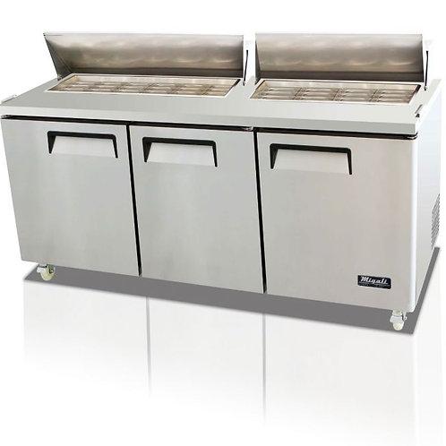 "Migali 72"" Wide Refrigerator, C-SP72-30BT-HC"
