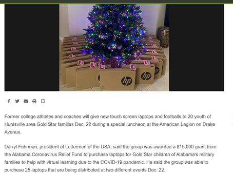 Redstone Rocket Covers Laptops for Gold Star Children