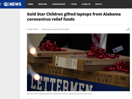 ABC 33/40 Covers Laptops for Gold Star Children