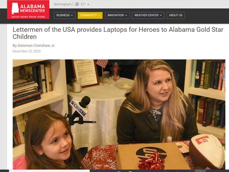 Alabama News Center Covers Laptops for Gold Star Children