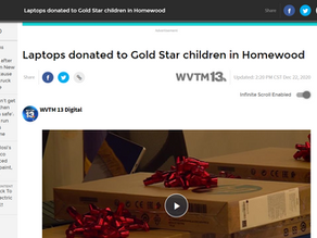 WVMT Covers Laptops for Goldstar Children