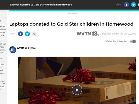 WVMT Covers Laptops for Goldstar Children