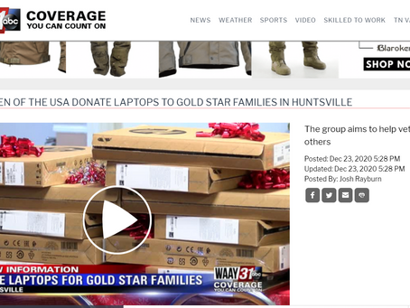 WAAY Covers Laptops for Gold Star Children