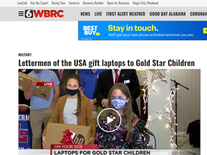 WBRC Covers Laptops for Gold Star Children