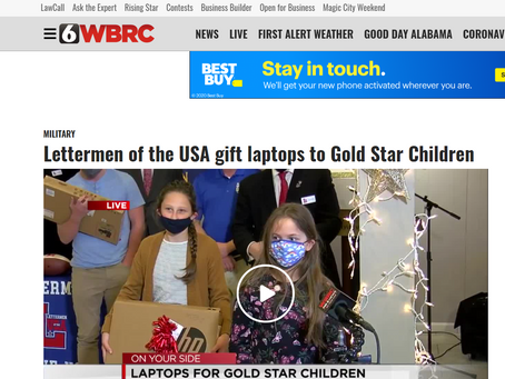 WBRC Covers Laptops for Gold Star Children