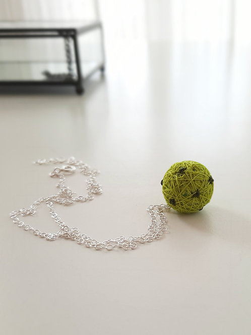 Lime Dots  Necklace