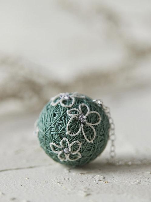 Luna Flowers Necklace Green