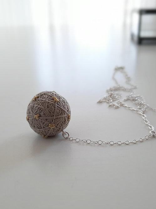 Beige Dots Necklace