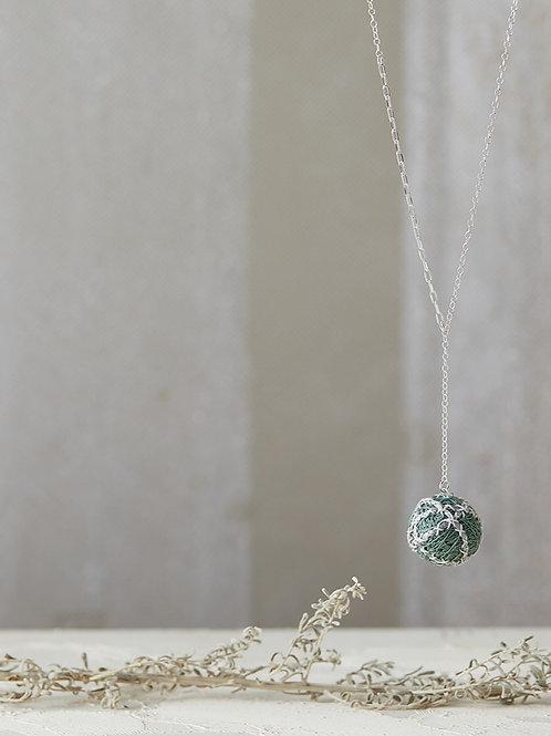 Luna Stripes Necklace Green
