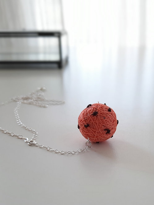 Coral Dots Necklace