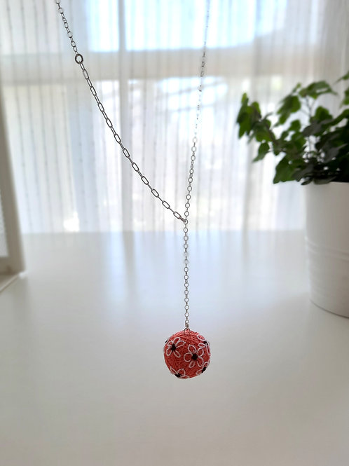 Coral Flowers Necklace