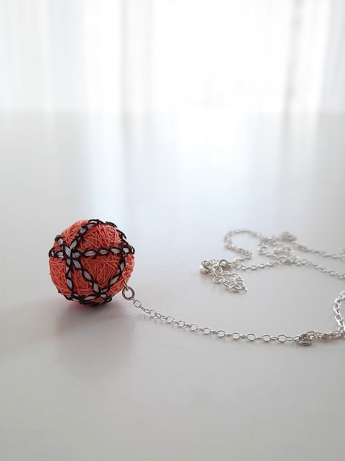 Coral Stripes Necklace