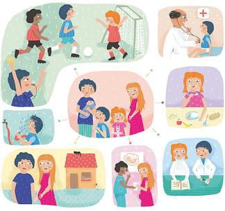Illustration for UNICEF magazine
