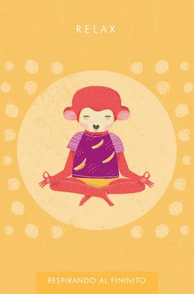 Diseño de juego de cartas para meditación