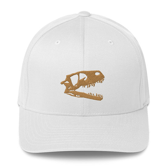 Edward Cope Dino Skull Fitted Structured Twill Cap (Old Gold)