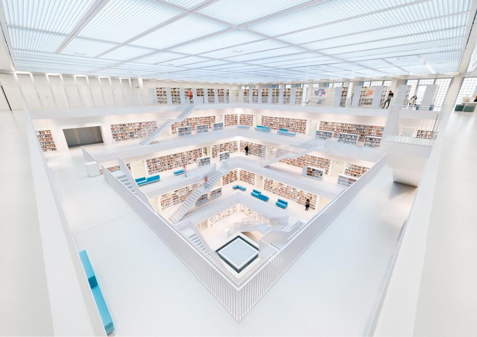 Bibliothek Stuttgart. Germany.