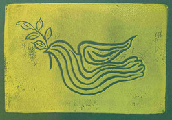 Dove With Olive Branch Yellow/Green