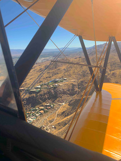 Aerial Color Biplane