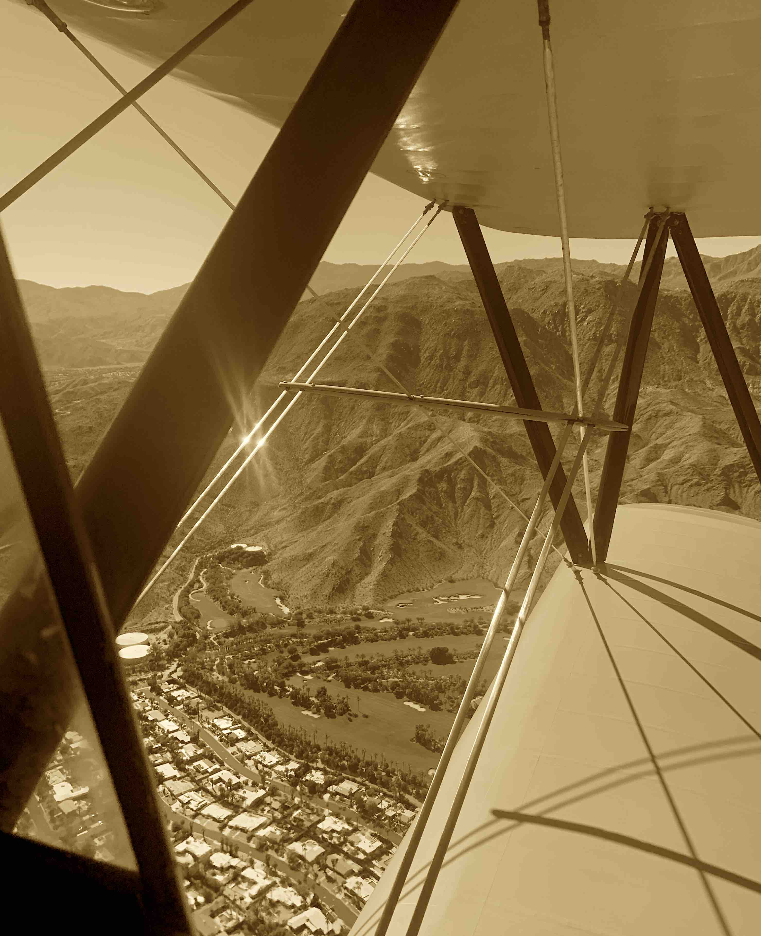 Aerial Palm Springs Sepia