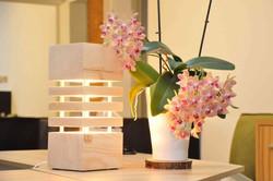 Zirbenlampe LED Stehlampe