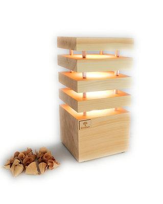Nachttischlampe Zirbenholz