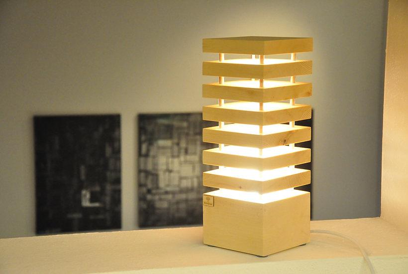 Zirben  Stehlampe 14 x 14 x 38 cm