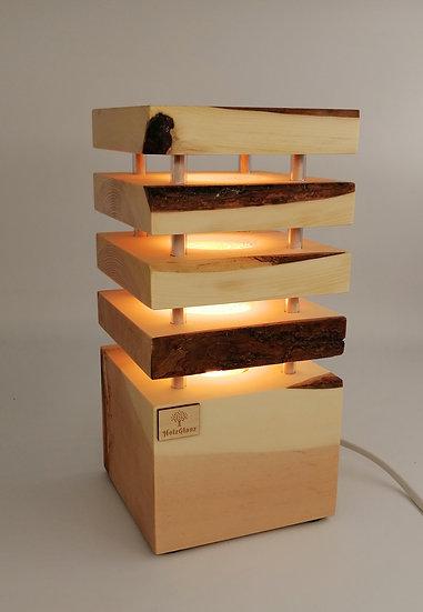Zirben Nachttischlampe Einzelstück 12,5x12,5x26cm