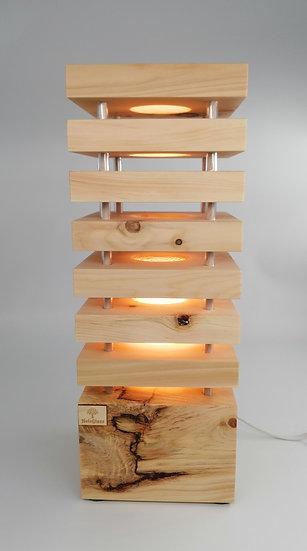 Einzelstück Zirben  Stehlampe 14 x 14 x 38 cm