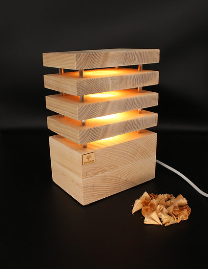 Stehlampe Eschenholz 12,5 x 18 x 26,5 cm