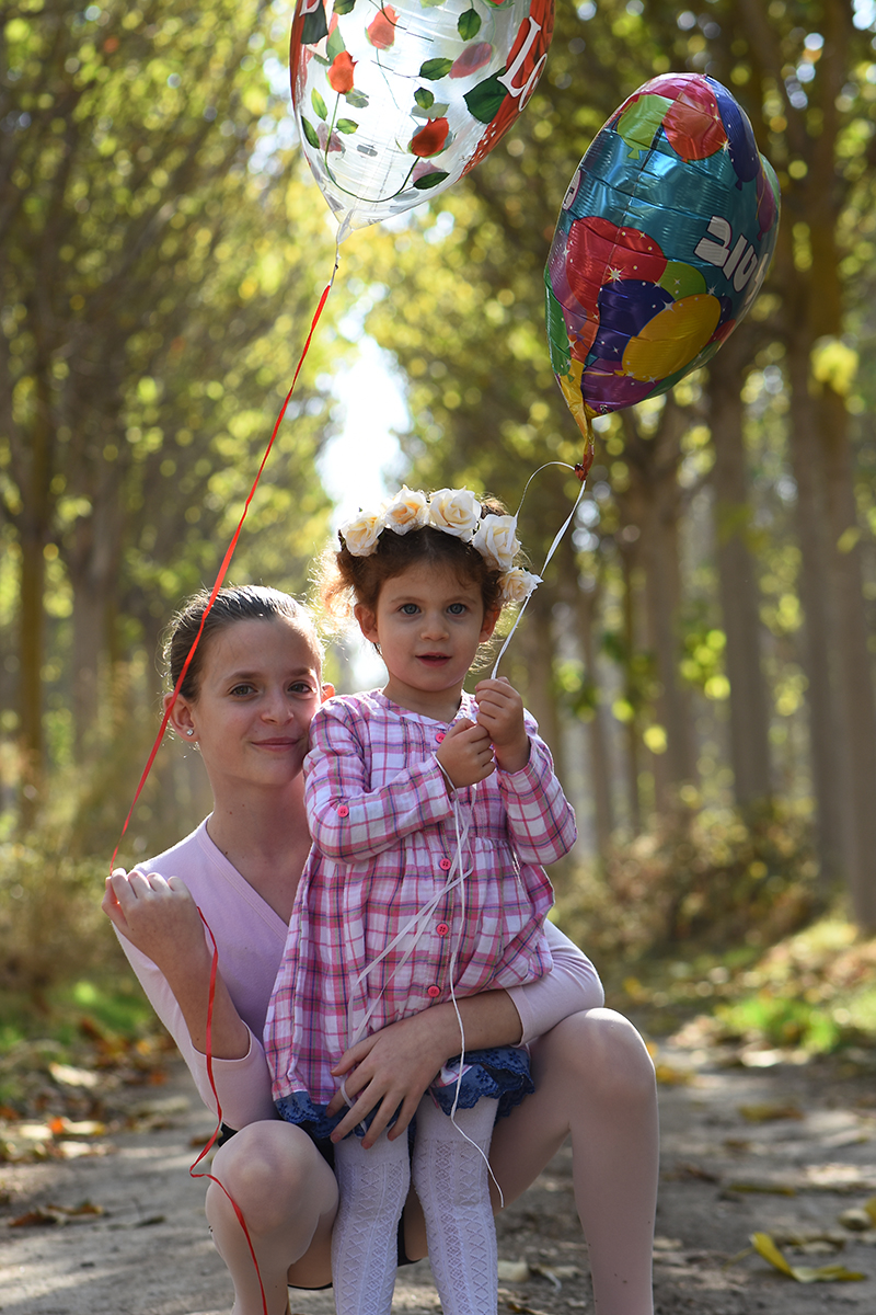 עם אחותי הקטנה, צילומיי בת מצווה