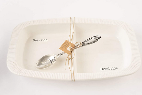 Mud Pie Fall Divided Side Serving Dish Set of 2