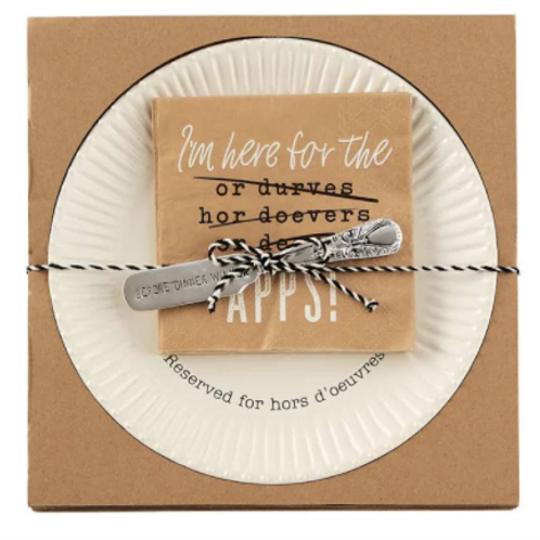 Mud Pie Hors D'Oeuvres Plate Set