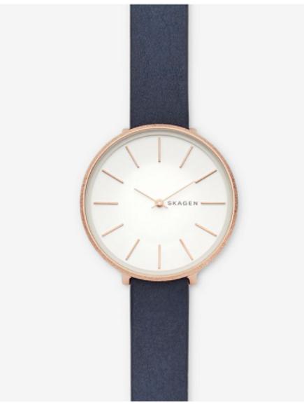 Skagen Karolina Blue Leather Watch