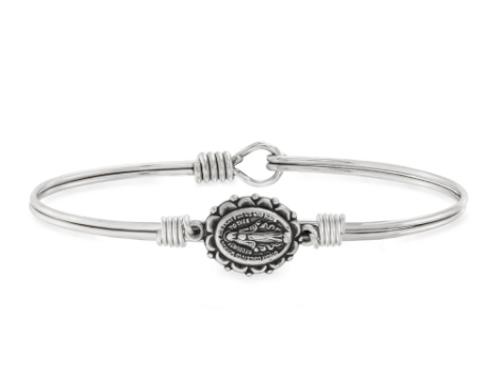 Luca & Danni Miraculous Medal Bangle Bracelet-Regular