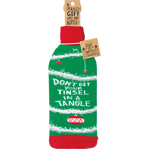 Bottle Sock - Don't Get Your Tinsel in a Tangle