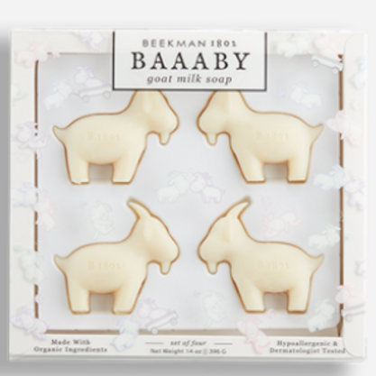 Beekman BAAABY goat milk soap set of 4