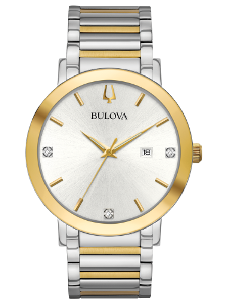 Bulova Futuro White Dial Diamond Men's Watch 98D151
