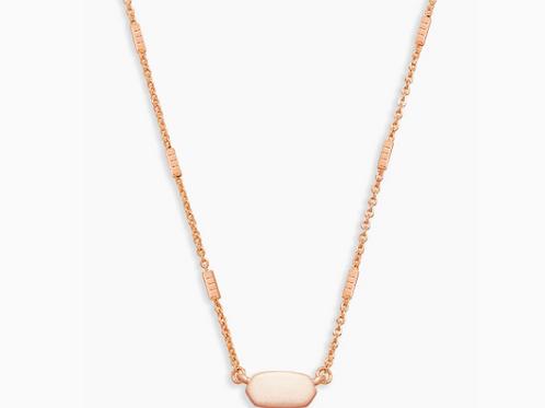 Kendra Scott Fern Pendant Necklace In Rose Gold
