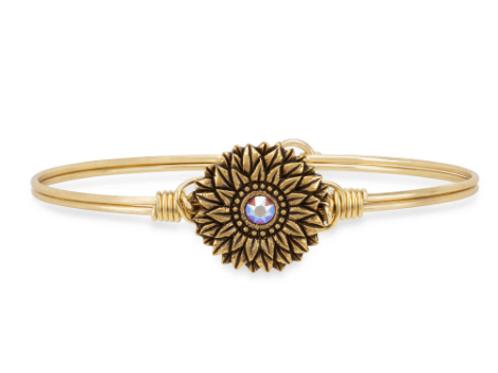 Luca & Danni Sunflower Bangle Bracelet - Regular