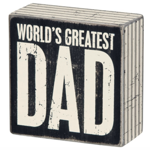 Box Sign - Greatest Dad