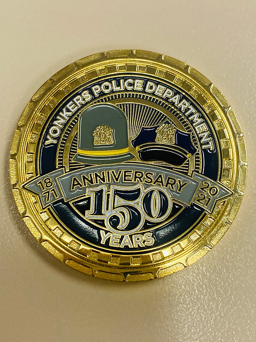"""1.75"""" YPD 150th Anniversary Challenge Coin"""