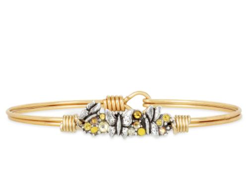 Luca & Danni Butterfly Medley Bangle Bracelet -Petite