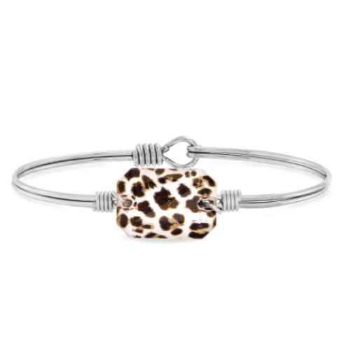 Luca & Danni Dylan Leopard Bangle Bracelet - Petite
