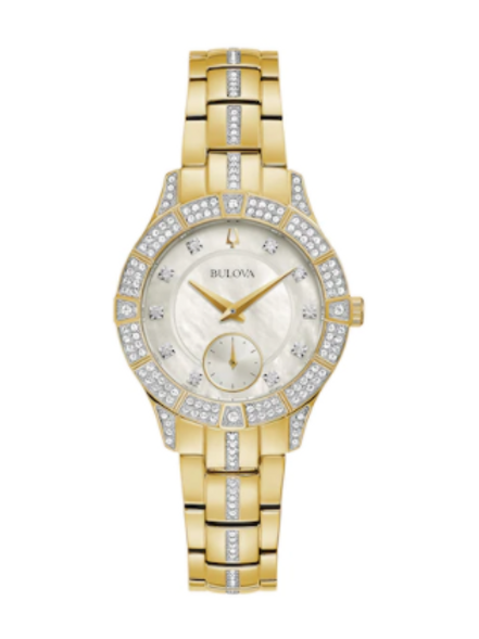 Bulova Women's Phantom Crystal Accent Gold-Tone Watch
