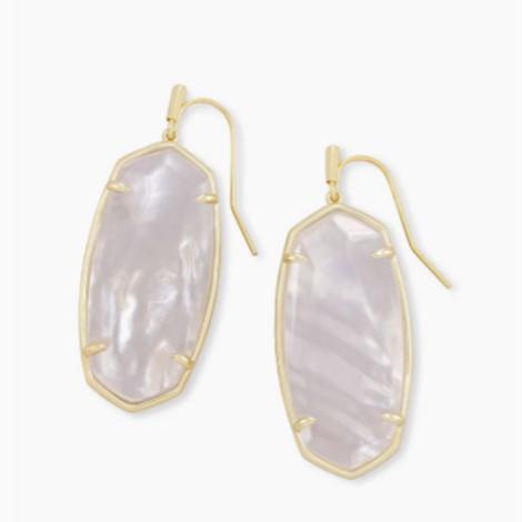 Kendra Scott - Elle Gold Drop Earrings In Ivory Mother-Of-Pearl